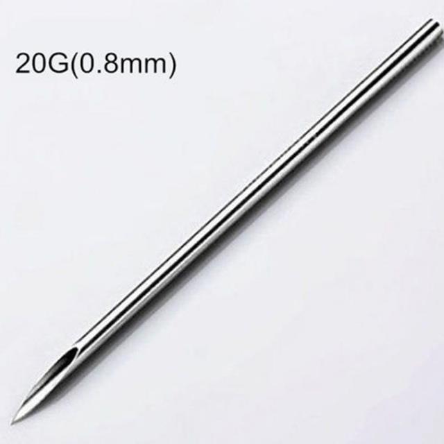 10pcs Disposable Sterile Body Piercing Needles Medical Tattoo Piercing Needles For Navel Nipple Ear Nose Lip 12g/14g/16g/18g/20g 4
