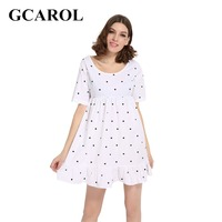 GCAROL 2017 Women Euro Style Polka Dot Dress Back Bowknot Design Dress O Neck Casual