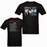 Fashion Green Day 2017 T Shirt Hip Hop StreetStyle Cotton O Neck Short Sleeve Casual T