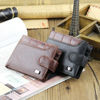 FREE SHIPPING Casual Male Genuine Leather Short Design Wallets Men S Cowhide Leather Wallets Purse Money