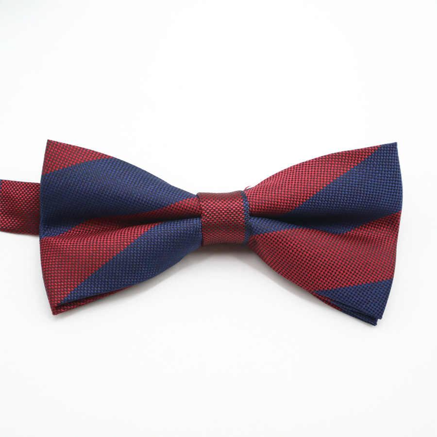 Panas!!! Pria Stripes Floral Saku Persegi Busur Dasi Set Adjustable Saputangan Dasi Kupu-kupu Set Pesta Pernikahan Hanky Banyak Pernikahan Hadiah