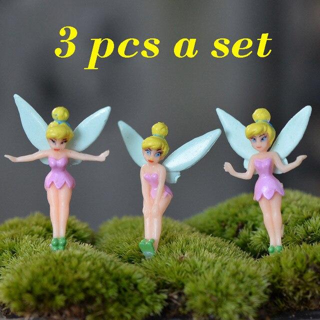 3 Pcsset Cartoon Elf Girls Flower Angel Diy Fairy Garden Craft