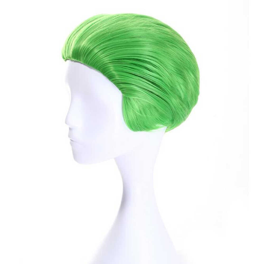 Soowee Short Straight Synthetic Hair Halloween Wig Hair Accessories Party Hair Green Cosplay Wigs for Men