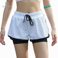 Breathable Double Layer Women Fitness Shorts Summer Workout Famale Exercise Candy Color Casual Quick Dry Women