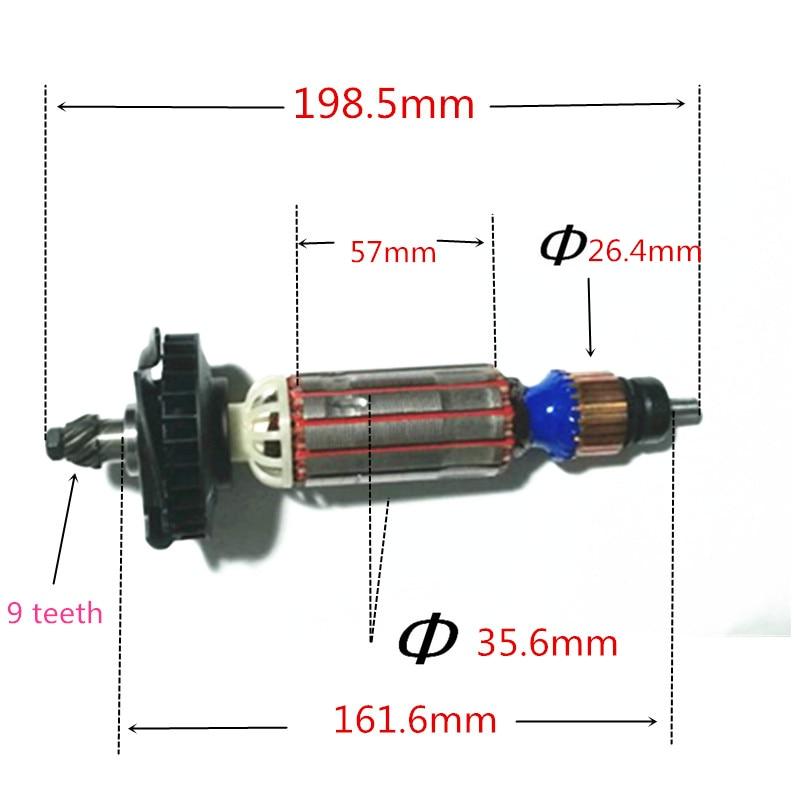 AC220-240V Motor Engine Rotor for DeWALT D28132 D28135 D28136 D28137 D28132C шлифовальная машина dewalt d28136