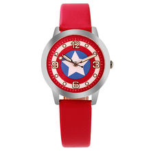 ot03 Captain America  Watch Fashion Watches Quartz children  Kids Clock boys girls Students Wristwatch