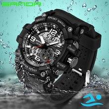 Sanda Mens Watches Top Brand Luxury Famous Male Clock For Man Wrist Watch S-SHOCK Digital Led Sports Watch Men Relogio Masculino