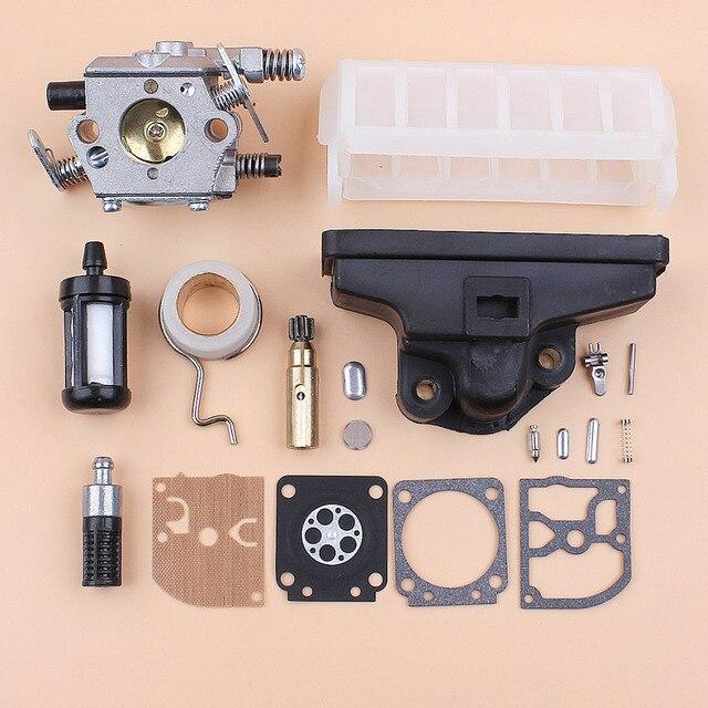 Carburetor Air Filter Oil Pump Worm Gear Diaphragm Kit Kit For Stihl MS210 MS230 MS250 021 023 025 Chainsaw Zama C1Q S11E Carb