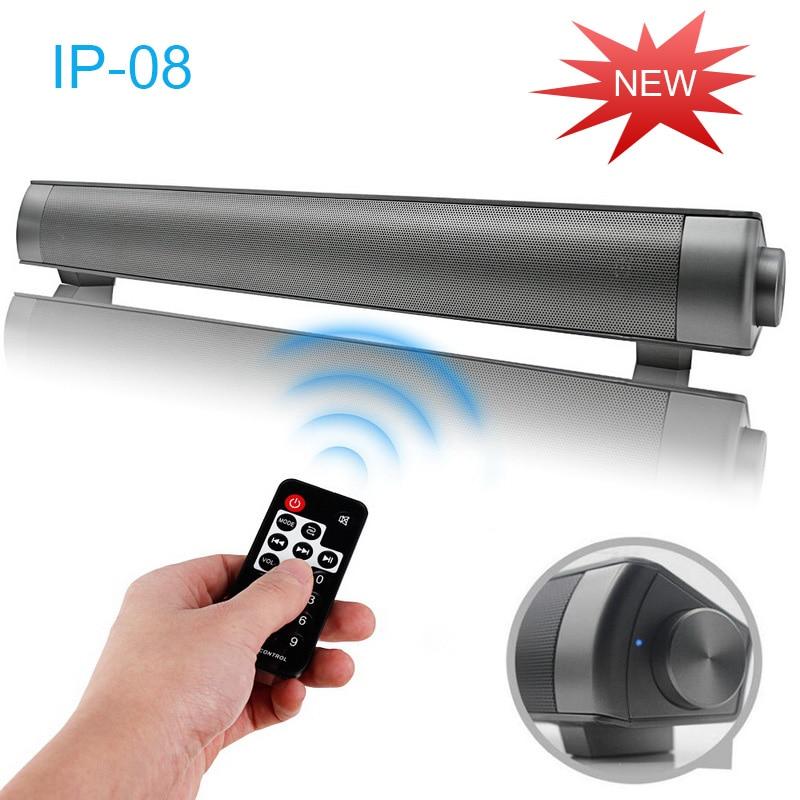 Ip-08 Ip08 10W Sound bar Wireless Bluetooth Speaker Subwoofer TV PC Deskop Soundbar Stereo Super Bass Altavoz port til For TV PC bluetooth