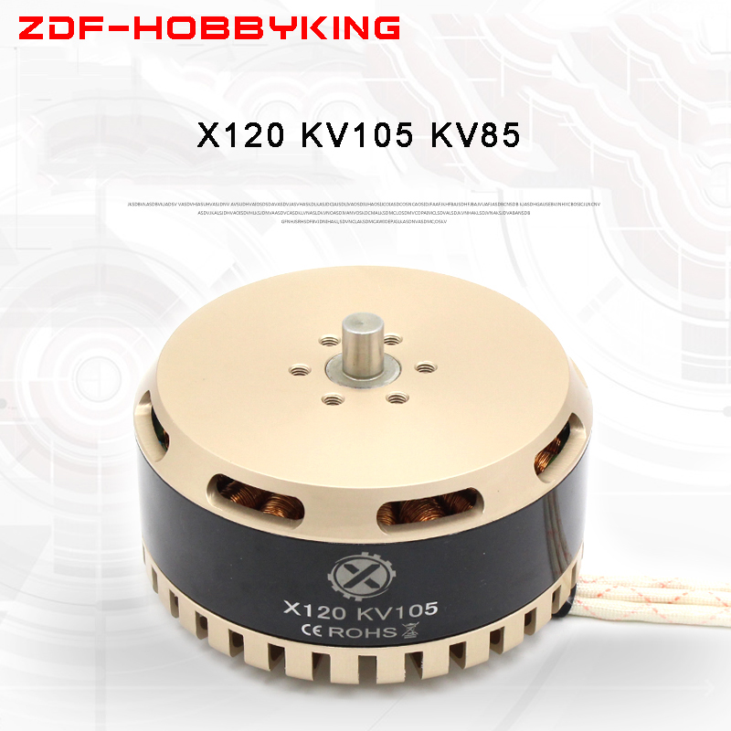 Large Agricultural drone Waterproof Brushless Motor X120 KV105 KV85 Heavy load High Power HLY T12 T3895 Propeller Be applicable 1 pcs x80 140kv 160kv agriculture drone brushless motor cruise multi axis large load large pull high efficiency hly t8 motor