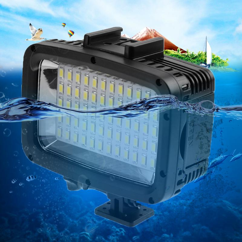 60 LED Video Light Lamp Photographic Lighting Lamp 1800LM Waterproof Diving Camera Photographic Lighting for GoPro Hero