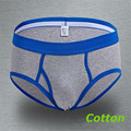 Boxeadores de los hombres calzoncillos de algodón letra de la historieta caliente patchwork underwear marca al por mayor m365-b m ~ xxl