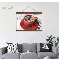 Scroll painting canvas art a cup of coffee HD printed on canvas modern home wall decor picture for living room SCP (140)