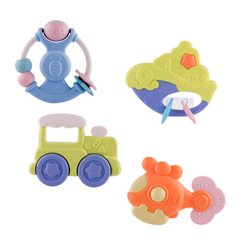 Infant Baby Toy Set Rattles Teether Toys Infant Jingle Shaking Bell Hand Shake Lovely Bell Ring Bed Crib Newborn Educational Toy недорого
