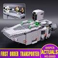 ЛЕПИН 05003 Звездные войны The Force Пробуждает Первого Порядка Transporter Игрушки Building Blocks Marvel классическая модель игрушки