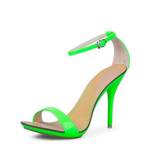 Sandálias Das Mulheres Sapatas Das Senhoras Cores Doces Tornozelo Strapy Sandálias Gladiador Verão sapatos de Salto Alto Vestido de Festa de Casamento Na Venda 2017