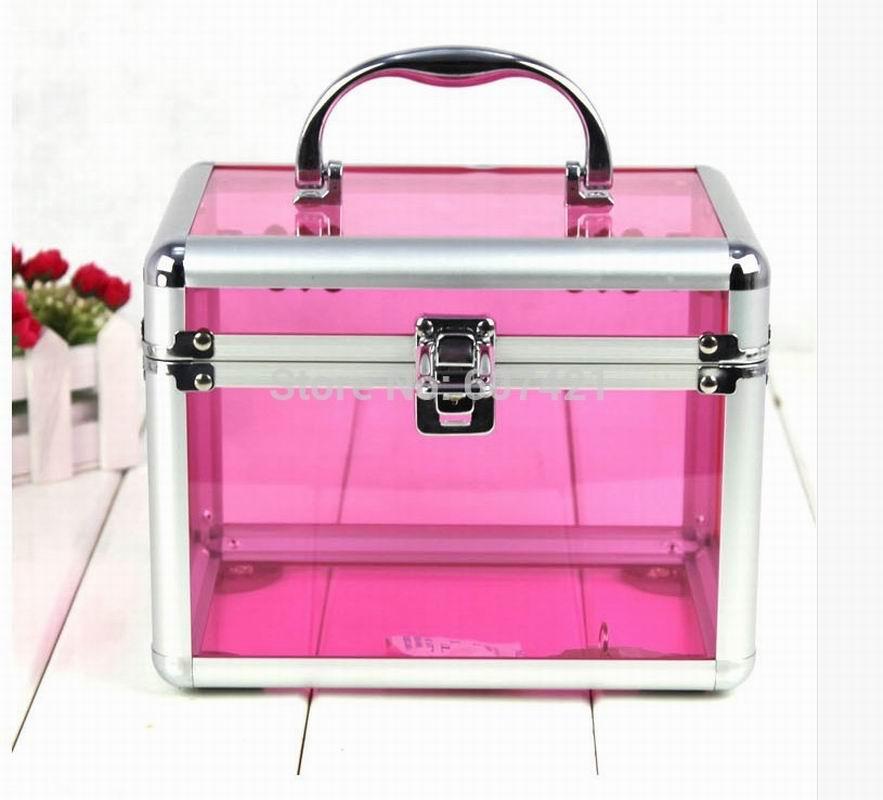 Fashionable Middle Size Aluminium Acrylic Beauty Makeup Cases CC005