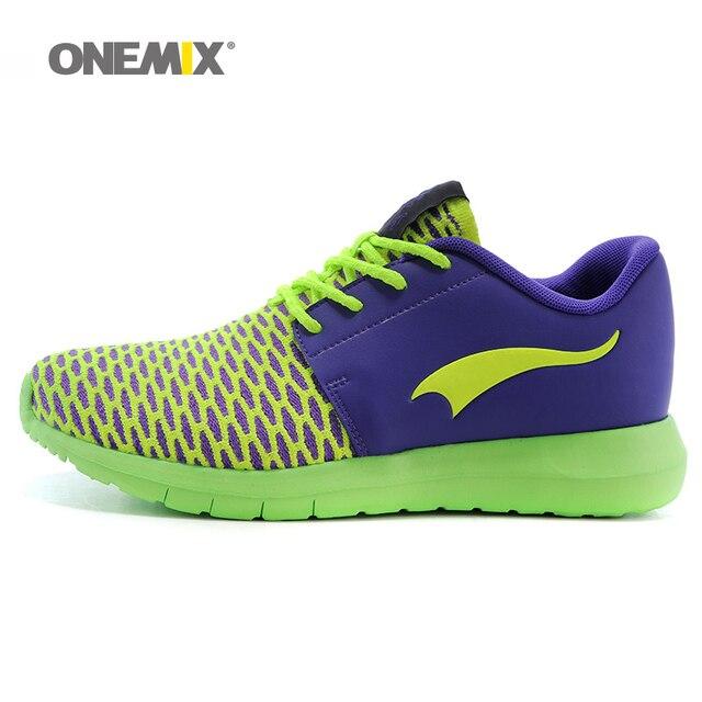 Onemix Для женщин Спортивная обувь Кружево Up Спортивный Спортивная обувь для женщин с плоской Обувь Высокое качество спортивной обуви для бега походы кроссовки