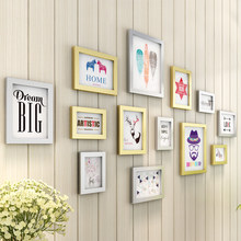 European 13pcs/set Black White Photo Frame For Family Picture, Wall Decorative Wooden Picture Frame Sets, Wedding Picture Holder(China)