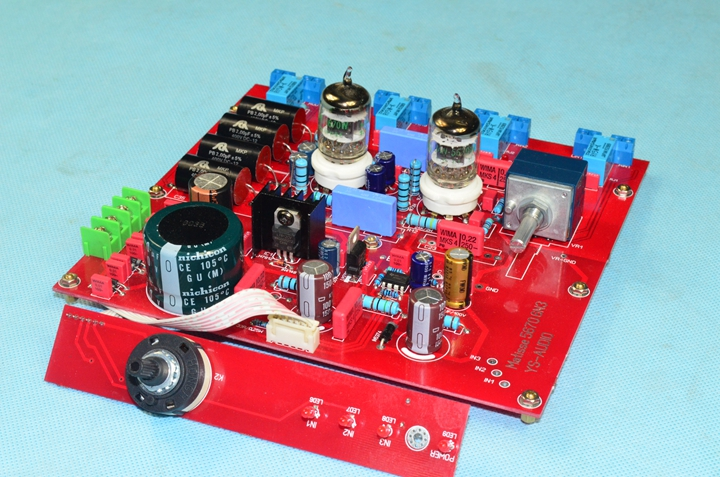 Assembled YS-D1 <font><b>5670</b></font> <font><b>tube</b></font> preamp board 3 input base on Matisse preamp circuit image