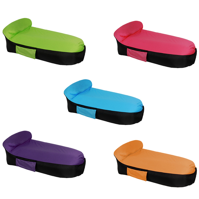Portable Outdoor Infaltable Air Sofa Bed Sleeping Bag Inflatable Lazy Beach Camping
