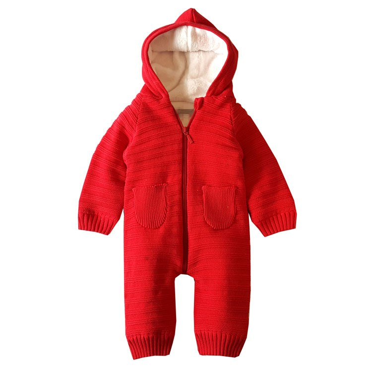 Baby Rompers Newborn Boys Clothes Winter Hooded Clothing Girls Jumpsuits Pajamas Baby Overalls BR-1821 winter baby rompers bear girls boys clothes hooded baby boys rompers cotton padded jumpsuits infants kids winter clothes