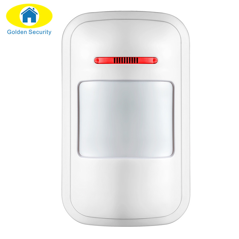 Golden Security 2 Frequency Optional Wireless PIR Detector for home alarm home security system 433 motion sensor wireless vibration break breakage glass sensor detector 433mhz for alarm system