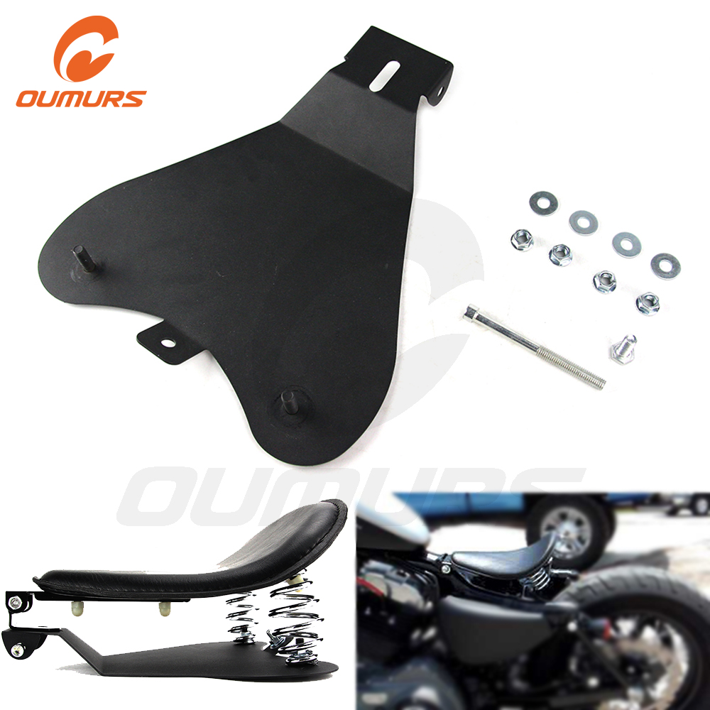 OUMURS Motorcycle Driver SOLO Seat Baseplate Base Pan Bracket For Harley Sporster  XL 883 1200 48 Chopper Bobber Custom