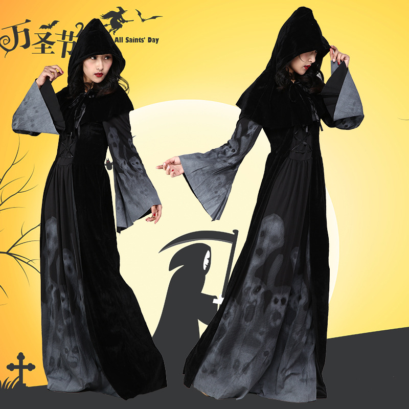 Women Halloween Vampire Zombie Dress Ghost Bride Vampire Bleach Cosplay Costume Carnival Masquerade Party Costume