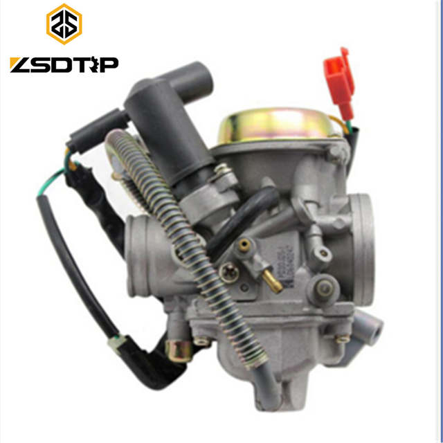 US $40 14 27% OFF|Free shipping ZSDTRP PD30J GY6 250 cc scooter Carburetor  parts Vacuum model universal fit on other 250cc Scooters-in Carburetor from