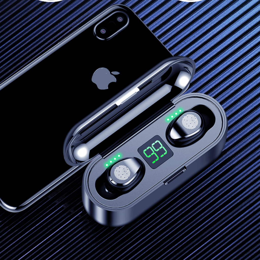 TWS 5 0 Bluetooth Earphones True Wireless Earbuds Deep Bass 8D Stereo Waterproof in Ear Headset with LED Display Charging Box in Bluetooth Earphones Headphones from Consumer Electronics