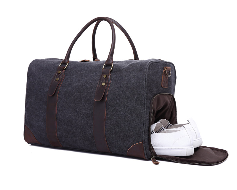 Nesitu haute qualité Vintage grande grande capacité gris armée vert toile femmes hommes voyage sacs Messenger sac # M3070