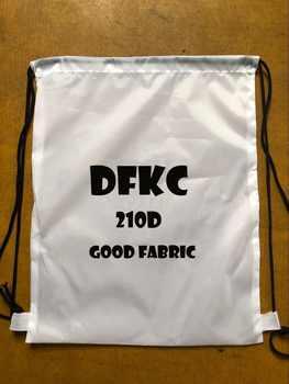 100pcs Custom logo bags high quality material 210D polyester drawstring backpack make logo bgs print logo black bags