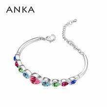 Tennis Aquamarine Bracelet Made With Swarovski Elements #95058