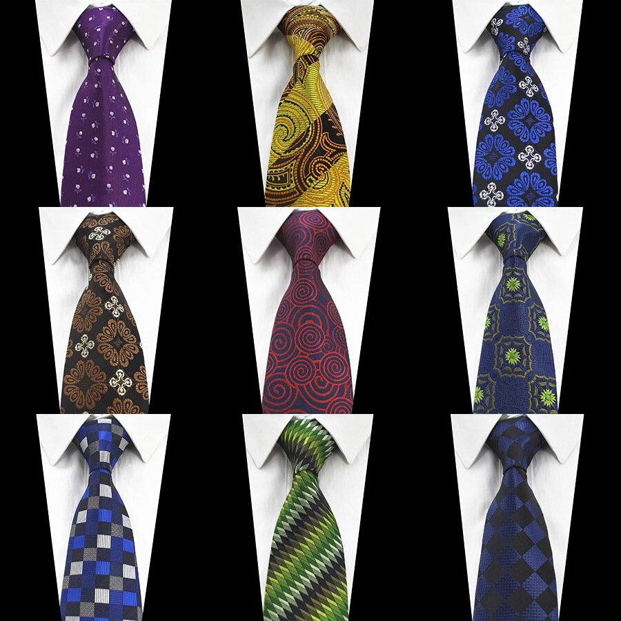 Ricnais New Designer Blue Green Tie Silk Jacquard Weave Flower Paisley Neck Tie For Men Corbatas Hombre 2017 Suit Wedding