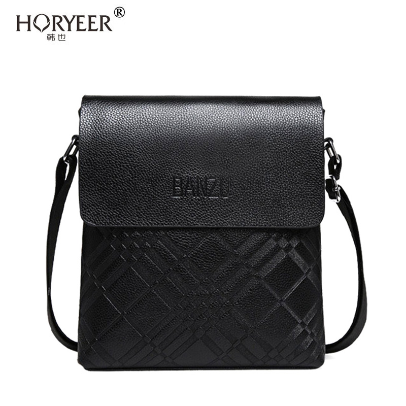 Conception innovante 456f8 bdf5a US $28.3  HORYEER sacoche homme marque luxe Business Leather Men messenger  Bags Men's Shoulder Bag Casual Vintage Briefcase crossnody Bag-in Crossbody  ...
