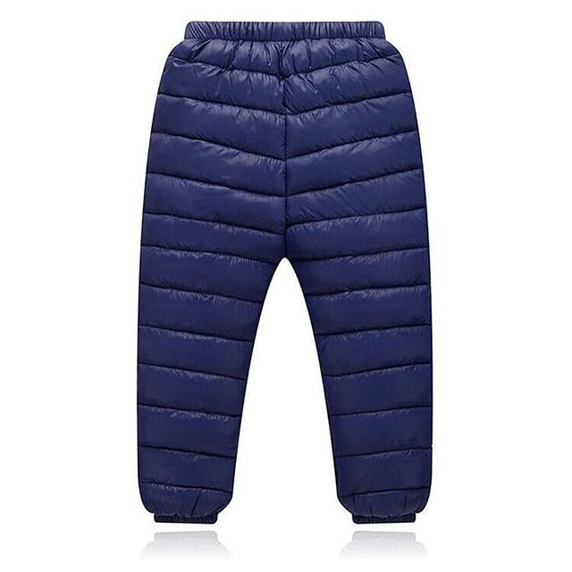 2017 New Autumn Winter Children Leggings Warm Pants Boys Girls Down Trousers Kids Elastic Waist Thick Pants Children's Clothes