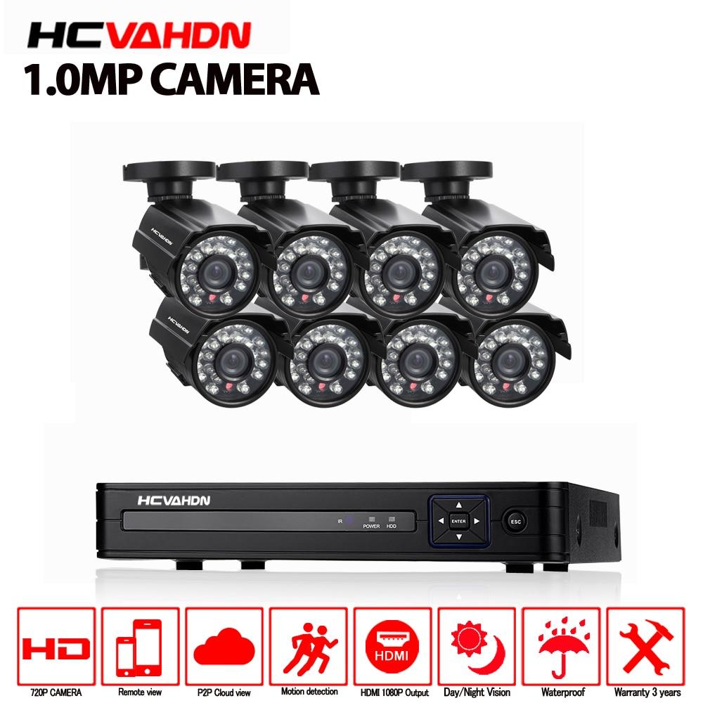 AHD 8CH DVR 1080P Video Recorder HD 720P 1 0MP Night Vision Waterproof set Home Surveillance