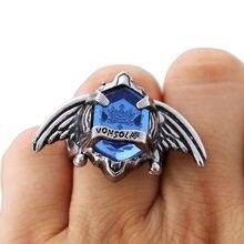 Desenhos animados hitman renascer sawada tsunayoshi anéis de cosplay vongola anéis legal asas dos homens anéis de prata do vintage