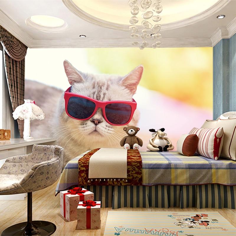 RTFC Effect Photo Wallpaper Hd Beautiful Cute Cat Photography Close Tv Background Wall Living Room Wallpaper Lobby Mural-250X175Cm