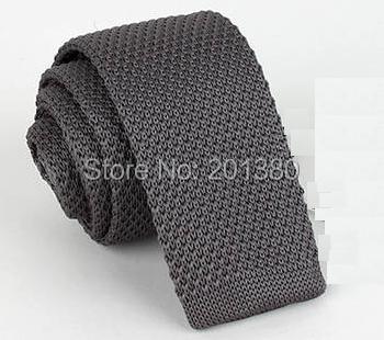 2019 Solid Knitted Skinny Ties For Men Crochet Necktie Cravat