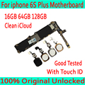16 Гб 64 Гб 128 ГБ для iPhone 6S плюс материнская плата, оригинальная разблокированная для iPhone 6S плюс логическая плата с сенсорным ID/без сенсорного ID