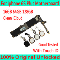 16GB 64GB 128GB for iphone 6S Plus Motherboard,Original unlocked for iphone 6S Plus Logic board with Touch ID/without Touch ID