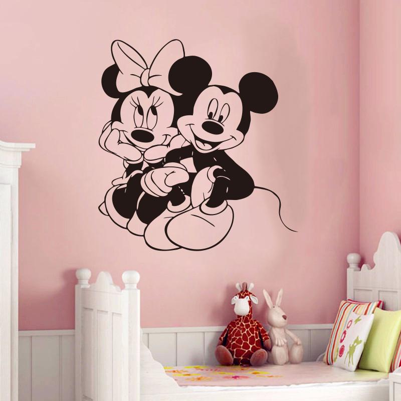 Criativo New Mickey Mouse U0026 Minnie Personalizado Nome Crianças Adesivos De  Parede Para Quartos De Crianças Part 47