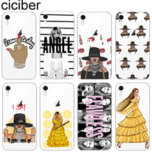 ciciber Beyonce Phone Case for iPhone 11 Pro Max Cover for Iphone XR 8 7 6 6S Plus 5S SE X XS MAX Soft Silicone TPU Fundas Coque ciciber retro style flower skull phone case for iphone 7 8 6 6s plus x xr xs max 5s soft tpu cover for iphone 11 pro max coque