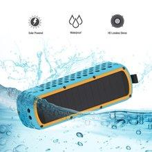 Lanmey Solar powered Portable Wireless Bluetooth Speaker, Shockproof Waterproof solor bluetooth speaker (Blue)