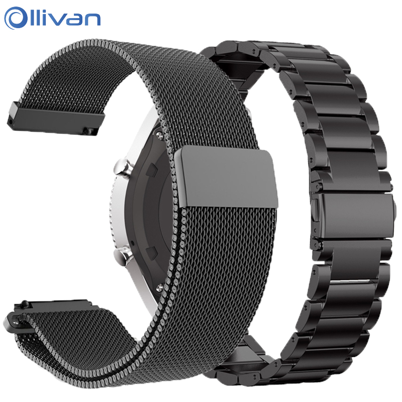 For Xiaomi Huami Amazfit Stratos 2 2S 3/pace Strap Metal 22mm Watchband For Amazfit GTR 47mm Band For Huawei Watch GT GT2 Steel