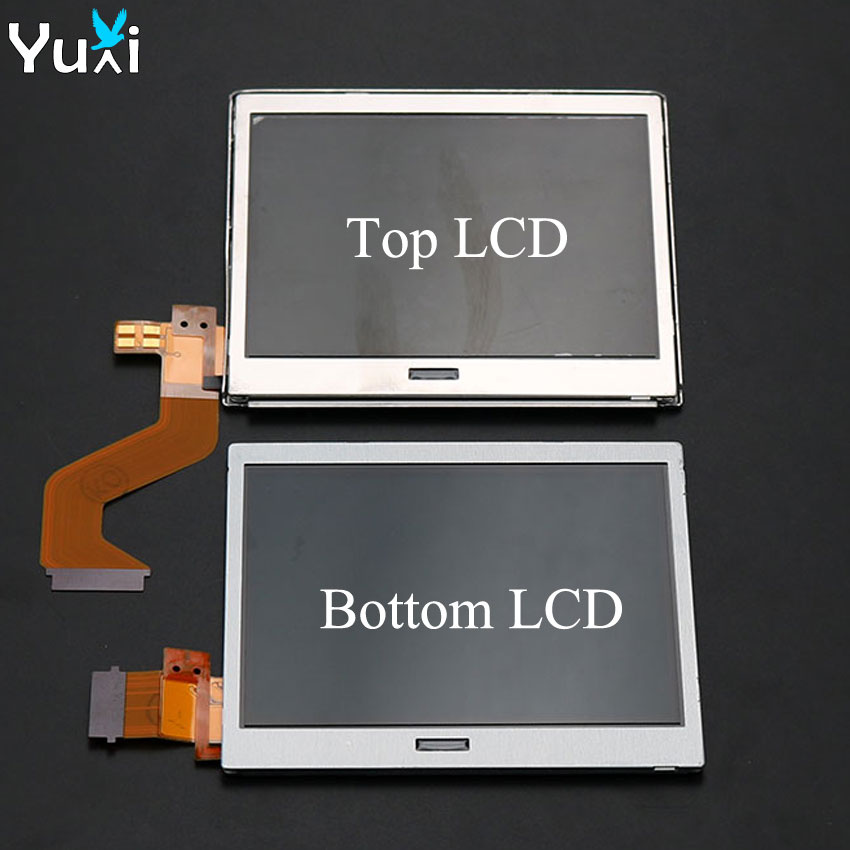 YuXi Brand New Top Upper Bottom Lower LCD Display Screen Replacement For Nintendo DS Lite For DSL For NDSL