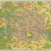 Vintage cartel del mapa del mundo exposición, feria de turismo de Berlín pinturas clásicas en lienzo pared Vintage carteles pegatinas decoración del hogar regalo