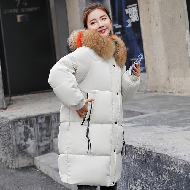 Best Offers With Big Fur Collar Women Winter Jacket Oversize 2018 New Hooded Female Long Parka Coat Coats Outwear For Womens Winter Jackets